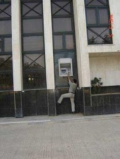 """""""It's easier to put the ATM in the glass. If the Architect wants to put lower, he'll have to pay to cut the stone"""""""