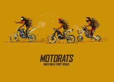Pixel Art : des gifs animés Mad Max Fury Road
