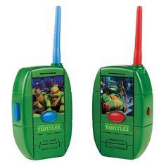 """Teenage Mutant Ninja Turtles Walkie Talkies - Playmates - Toys""""R""""Us Ninja Turtle Shells, Ninja Turtle Toys, Teenage Mutant Ninja Turtles, Toys R Us, Turtle Graphics, Fun Games For Kids, Best Kids Toys, Kids Store, Walkie Talkie"""