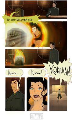 Guys… Korra's back. Avatar Aang, Team Avatar, Avatar Cartoon, Avatar Funny, The Last Avatar, Avatar The Last Airbender Art, Korra Comic, Avatar World, Avatar Series