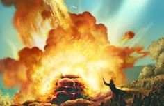 Matthew2: Biblical Paintings. Elijah fire from heaven.