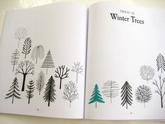 21 ways to draw a tree and other nifty things from nature print & pattern…