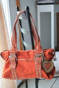 Kathy Van Zeeland Bag Orange/Red Free Shipping, No Fees $50.00