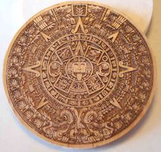 Picture of Aztec Pewter Coin From Laser Etched Template