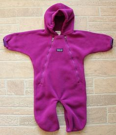585d20f02 Patagonia Purple Synchilla Fleece Bunting Infant Baby Girls 3M 3 M Snowsuit