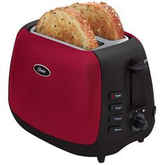 Beautifully housed in a red metallic housing with black accents, this two-slice toaster from Oster not only looks great in any contemporary kitchen, but it also features extra-wide slots that can accommodate a variety of bread types, including thick bagel halves, hamburger buns, English muffins,... - http://kitchen-dining.bestselleroutlet.net/product-review-for-oster-6595-inspire-2-slice-toaster-redblack/