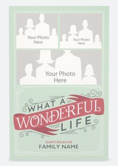 "Why You'll Love Light Blue What Wonderful Life Vertical Flat Holiday Cards - 5""x7"""
