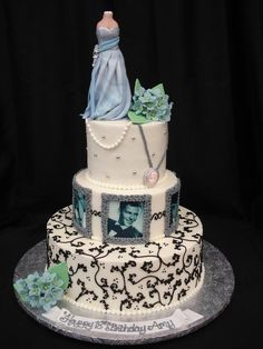 Elegance and class is the theme for this pearl-studded decorative birthday cake. @PartyFlavors #PartyFlavors