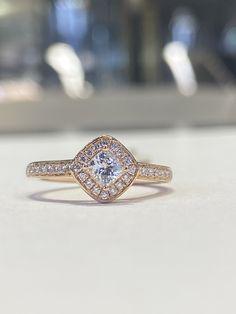 Rose Gold Diamond Engagement Ring Eternity Ring Diamond, Diamond Solitaire Rings, Halo Diamond Engagement Ring, Engagement Ring Styles, Designer Engagement Rings, Panther Ring, Custom Jewelry Design, Wedding Ring Bands, Fashion Rings
