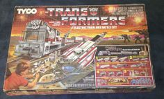 1985 G1 Tyco Transformers Electric Train and Battle Set complete w/ box #Tyco