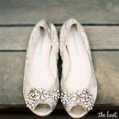 Peep Toe Wedding Flats