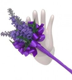 Young bridesmaids or Flower Girls Wedding Wand with Silk Lavender and Purple Satin Ribbon Bows