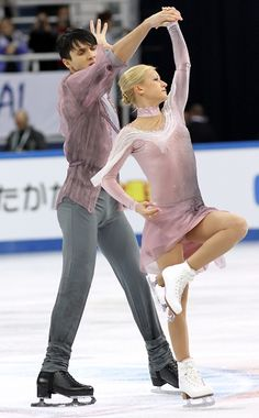A bittersweet victory for Tatiana Volosozhar and Maxim Trankov of Russia