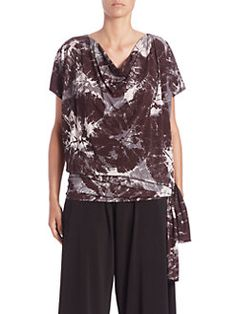 Issey Miyake - Alocasia-Print Short-Sleeve Jersey Top