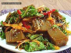 [도토리묵무침]날씬한 칼로리~~ 맛있는 도토리묵야채무침