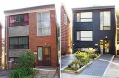 Before and After Home Facade – Love all of these facelifts! … Before and After Home Facade – Love all of these facelifts! Renovation Facade, Architecture Renovation, Home Exterior Makeover, Exterior Remodel, Exterior Paint, Exterior Design, Craftsman Exterior, Exterior Siding, Painted Brick Exteriors