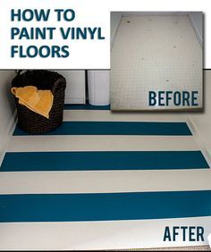 how to paint vinyl floors so they stay painted   painted vinyl