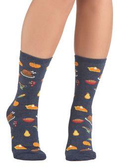 Feast on This Socks - Blue, Multi, Novelty Print $7.99