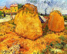 Haystacks in Provence Vincent van Gogh.so wonderful.love van Gogh so much:-) Art Van, Van Gogh Art, Vincent Van Gogh, Desenhos Van Gogh, Van Gogh Pinturas, Art Sur Toile, Painting Prints, Art Prints, Van Gogh Paintings