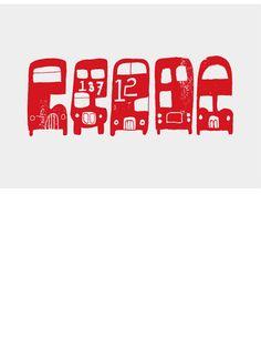 "biroRobot ""Buses"" - Ltd edition screen print, £45.00"