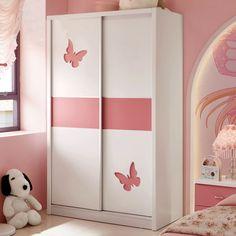 Розовый шкаф купе для детской комнаты с рисунками бабочек купить в интернет-каталоге https://lafred.ru/catalog/catalog/detail/16838042059/