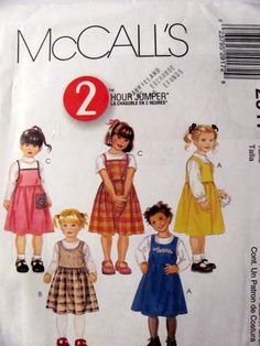 McCalls 2917, Girl's Jumpers Sewing Pattern, Sizes 2, 3 and 4, Uncut by OnceUponAnHeirloom on Etsy