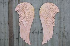 Angel Wings Wall Decor Large Shabby Chic Pink Gold Metal Upcycled Hand Painted Shabby Chic Decor Boho Decor Wedding Nursery Decor hand painted shabby chic decor upcycled shabby chic nursery decor angel wings metal angel wings angel wing decor painted angel wings angel wall decor large angel wings pink gold 229.00 USD #goriani