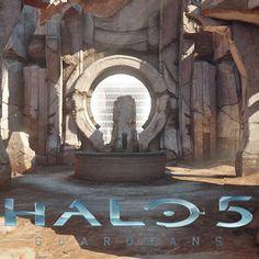 Halo 5 - Temple, Ignacio Guajardo Unanue on ArtStation at https://www.artstation.com/artwork/a94r2