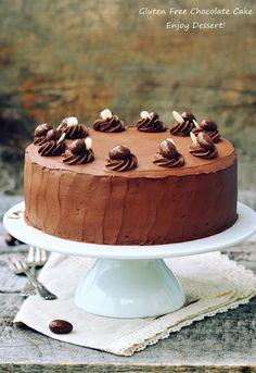Tort de ciocolata fara gluten Cake, Desserts, Food, Gluten Free Cakes, Sweet, Recipes, Tailgate Desserts, Deserts, Kuchen