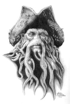 pirates of the caribbean black pearl tattoo - Yahoo Image Search Results Pirate Tattoo, Davy Jones, Caribbean Art, Pirates Of The Caribbean, Jack Sparrow Drawing, Pearl Tattoo, Pirate Art, Pirate Ships, Black Pearl Ship