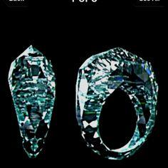 Now that's a true diamond ring-ALL diamond!