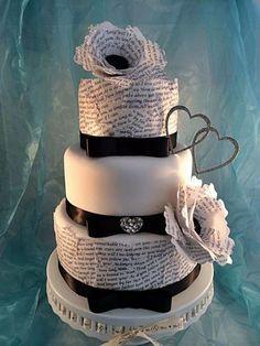 Love letters Decoupage wedding cake