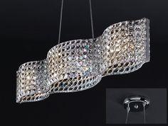 Lámpara Techo Cristal Onda II