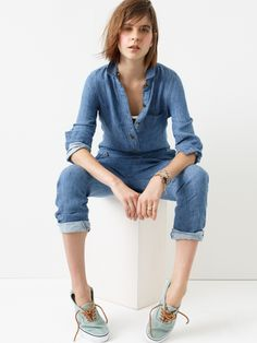 This is one of the many reasons why I love #denim. (And yes, I'm trying to win $1,500 @Madewell gift card too.). #denimmadewell #pinterestcontest