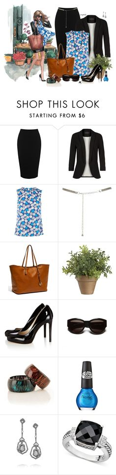 """Chic Girls likes Plants"" by exxpress ❤ liked on Polyvore featuring Warehouse, Oasis, MICHAEL Michael Kors, Cuisinart, Karen Millen, sass & bide, OPI, Kenneth Jay Lane, R.H. Macy's & Co. and Armitage Avenue"