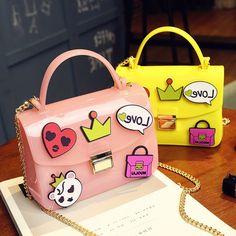 27.99$  Buy now - https://alitems.com/g/1e8d114494b01f4c715516525dc3e8/?i=5&ulp=https%3A%2F%2Fwww.aliexpress.com%2Fitem%2FPvc-badge-cute-cartoon-fashion-jelly-candy-color-ladies-handbag-flap-shoulder-bag-totes-messenger-bag%2F32686456807.html - Pvc badge cute cartoon fashion jelly candy color ladies handbag flap shoulder bag totes messenger bag across body chain purse
