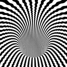 This is an animated gif of an optical illusion. The black and white lines make it look as if you are travelling into a never-ending tunnel. Optical Illusions Pictures, Illusion Pictures, Op Art, Cool Animated Gifs, Cool Animations, Illusion Kunst, Illusion Art, Tatu 3d, Amazing Gifs