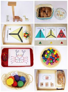 #Montessori-Inspired #Color Activities Using Wooden #Toys and Free Printables