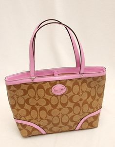 NWT Coach Peyton Signature PVC Top Handle Tote. Starting at $1 on Tophatter.com!