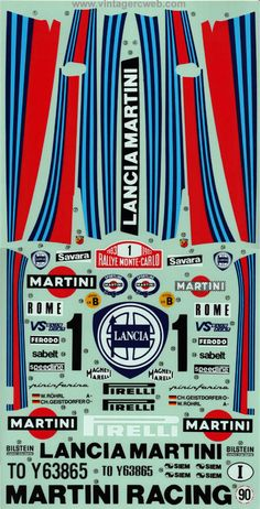 Decal set for Tamiya Lancia Rally car