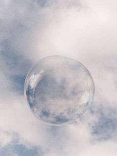 So harmless, so peaceful he looked as he floated through the air - who would ever suspect a simple bubble?