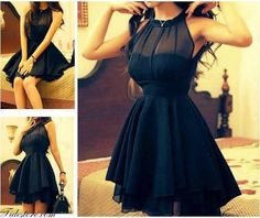 Classy black dress.. makes such a nice hourglass shape