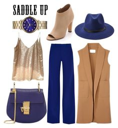 """#saddleup"" by hotcadarna ❤ liked on Polyvore featuring Chloé, Roland Mouret, Alexander Wang, Vince, Forever 21, Marc by Marc Jacobs and saddleup"