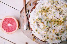 Dairy & Gluten Free Orange Cake with Coconut Frosting Orange And Almond Cake, Dairy Free, Gluten Free, Coconut Frosting, Runner Beans, Cake Tasting, Almond Cakes, Celebration Cakes, Vegan Desserts