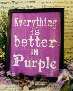 My favorite color is purple because it represents royalty.