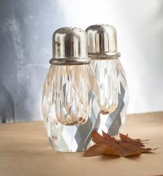 Vintage Salt and Pepper Shakers Faceted by TheOtherLifeVintage, $22.00