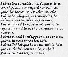 Find images and videos about amour, citation and french on We Heart It - the app to get lost in what you love. Do You Trust Me, Love You, Best Quotes, Love Quotes, French Quotes, Sentences, Decir No, Quotations, Affirmations