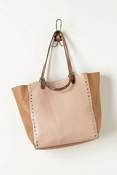 Crackle Studded Tote