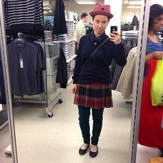I'm adoraboobs. Adorable with boobs. #adorable #dapperq #wiwt #ootd #bowtie #bowtiefly #nomakeup #mirrorselfie #selfie #hat #femme #autumn #autumnfashion #shopping #WhatLLworeToday