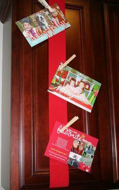 Display your Christmas cards